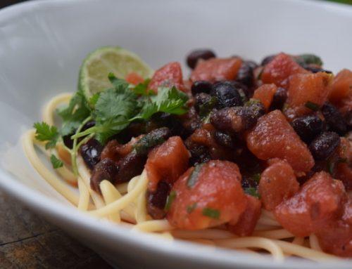 Caribbean Tomato Pasta
